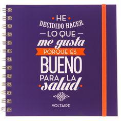 Cuaderno con frase original - Voltaire Calm, Vintage, Productivity, You Complete Me, Original Quotes, Vintage Comics