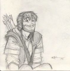 """Awwww killiii~~~he's probably watching Tauriel slaughter orcs and he's thinking """"she's so cute!"""""""
