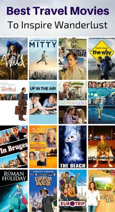 The best travel movies of all time selected by 51 travel experts.: The best travel movies and TV shows of all time. This ultimate list of the best movies about travel is sure to inspire wanderlust! Virtual Travel, New Travel, Travel List, Time Travel, Funny Travel, Travel Icon, Travel Guide, Cheap Travel, Budget Travel
