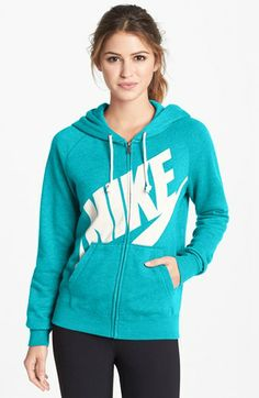 Nike 'Rally' Full Zip Hoodie available at #Nordstrom