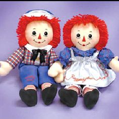 Raggedy Ann and Andy--been around a long, long time.  Actually found the set at Hobby Lobby and bought them for granddaughter, Isla Jane for Christmas last year.  Any little girl named Isla Jane needs a set of these, don't you think?