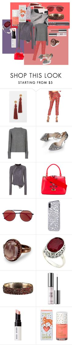 """the row"" by erggoe ❤ liked on Polyvore featuring Lizzie Fortunato, House of Harlow 1960, The Row, Rick Owens, Anya Hindmarch, Vera Wang, Samuel B., Urban Decay and Bobbi Brown Cosmetics"