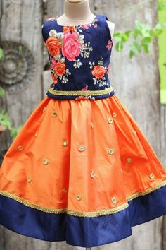 Baby Lehenga, Kids Lehenga, Kids Ethnic Wear, Mother Daughter Outfits, Baby Skirt, Cute Girl Dresses, Girl Fashion, Fashion Outfits, Frocks For Girls