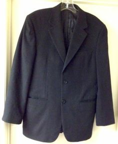 Men's Black Cashmere Blend Sports Coat Size 36 R in Excellent Condition | eBay CRAZY SOFT!!!!!