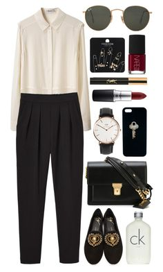 Untitled #593 by clary94 on Polyvore featuring polyvore T By Alexander Wang Monki Giuseppe Zanotti Yves Saint Laurent Daniel Wellington Topshop Ray-Ban The Giving Keys MAC Cosmetics Calvin Klein NARS Cosmetics fashion style clothing