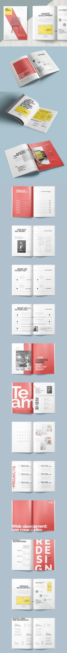 A4 & US Letter Project Proposal Template InDesign INDD | business ...