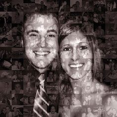 Unique Anniversary Gift for Wife, Girlfriend, Parents - Personalized Photo Collage Mosaic (20x20 Inch) Custom Wall Art