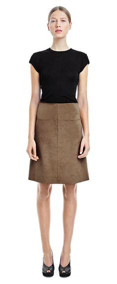 Ultra Suede Skirt - Skirts - Woman - Filippa K