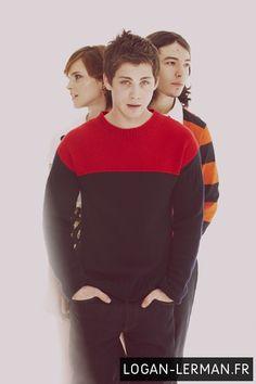 Logan Lerman, Emma Watson, Ezra Miller