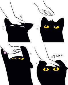Image uploaded by Find images and videos about black, cat and kawaii on We Heart It - the app to get lost in what you love. Baby Animals, Funny Animals, Cute Animals, Crazy Cat Lady, Crazy Cats, I Love Cats, Cute Cats, Cute Comics, Animal Memes
