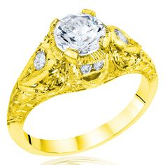 Whitehouse Brothers Yellow Gold Engagement Ring