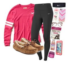"""Hanging out with friends"" by lacrosse-19 on Polyvore featuring Hollister Co., NIKE, UGG Australia, Sara Happ, LifeProof, Victoria Beckham and Casetify"