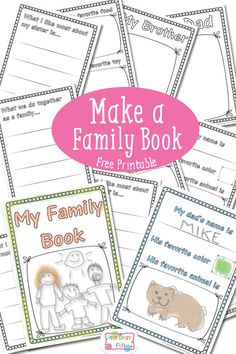 Make a Family Book Free Printable // Crea un álbum familiar con imprimibles gratis #freebie #printable #family