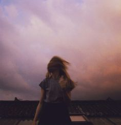 #roof #roofs #pink #sunset #cloud