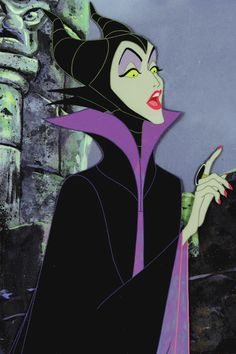 vintagegal:  Production art of Maleficent from Disney's Sleeping Beauty (1959)