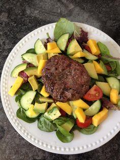 ... EVOO, lemon, and a grilled grass-fed burger. Noms! c/o Balanced Bites