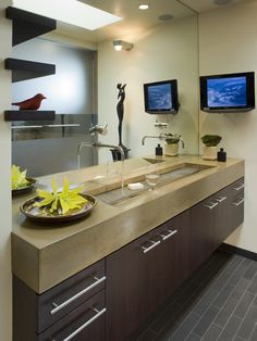 Bathroom Wall Mount TV Design, Pictures, Remodel, Decor and Ideas - page 4