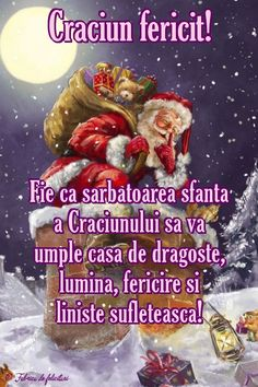 Fie ca sărbătoarea sfânta a Crăciunului să vă umple casa de dragoste, lumină, fericire și liniște sufletească! Christmas Greetings, Merry Christmas, Diy And Crafts, Projects To Try, Happy Birthday, Santa, Holidays, December, Animation