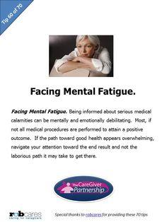 Tip 60 of 70 Tips for Caregivers  http://www.caregiverpartnership.com/