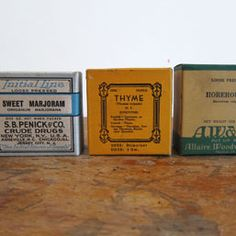 Collection of Antique Spice Boxes