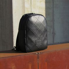 snob. 2017 All Black Collection - leather and nylon - quilted backpack