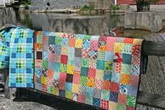 this patchwork quilt is made up predominately of lovely denyse
