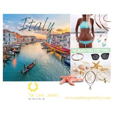 Travel To Italy Wearing Beachwear Jewelry, Tan Lines Jewelry