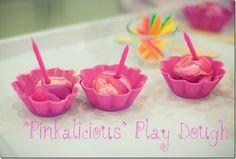 Pinkalicious playdough cupcakes