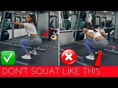 6 COMMON GYM MISTAKES PART 2 - LEGS & BOOTY | SQUAT BASICS & MORE - YouTube