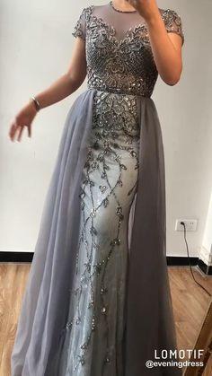 Evening Dresses With Sleeves, Evening Dresses For Weddings, Designer Evening Dresses, Gown Designer, New Designer Dresses, Evening Dresses Online, Formal Evening Dresses, Short Sleeve Dresses, Party Wear Dresses
