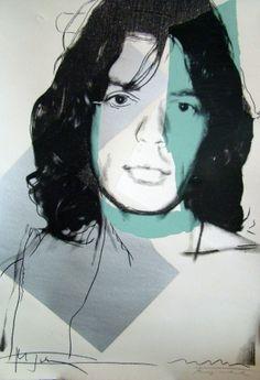 ANDY WARHOL - MICK JAGGER #138 - KUNZT.GALLERY http://www.widewalls.ch/artwork/andy-warhol/mick-jagger-138/ #Print