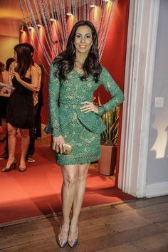 Tânia Khallil de vestido Martha Medeiros, sapatos Schutz, bolsa Alberta #Brazilian