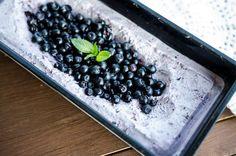 Blueberries ice cream