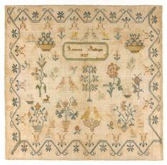 Philadelphia Museum of Art - 1837 sampler by Rebecca Ballinger