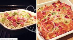 Low Carb Rezept für ein leckeres Zucchini-Gratin. Wenig Kohlenhydrate und einfach zum Nachkochen. Super für Diät/zum Abnehmen.