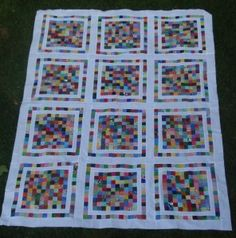 "I have this many squares of 2.5"" squares sewn together and this would be the perfect finish!"