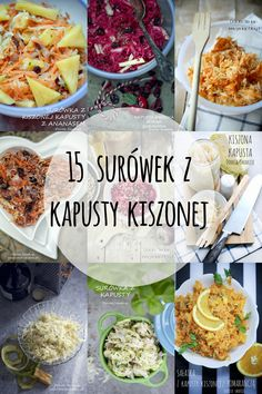 15 surówek z kapusty kiszonej Salad Recipes, Vegan Recipes, Cooking Recipes, Deli Food, Food Allergies, I Love Food, Meal Prep, Food And Drink, Yummy Food