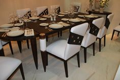Greek Dining Table & Chairs #versace #versacehome #salonedelmobile #palazzocollezioni