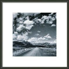 Land Shapes 25 Framed Print By Priska Wettstein #Yukon #BlackAndWhite #series #wilderness #travel #north #landscapes #LargerThanLife