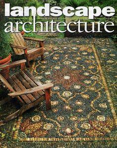 Pebble mosaic carpet. Jeffrey Bale