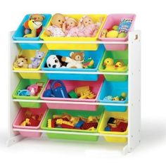"""Christmas Toy Storage Ideas"" - items that will make it easier for your child to put away their own toys!"