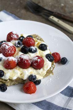Cake bij ontbijt Waffles, Pancakes, Breakfast Cake, Foodies, Oatmeal, Brunch, Rolls, Baking, Healthy