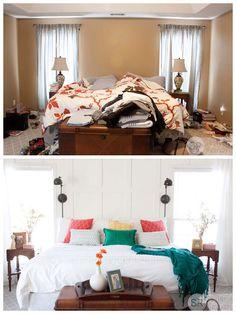 Southern Revivals| Under $500 Master Bedroom Makeover #bedroom #makeover SouthernRevivals.com