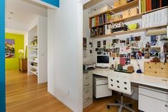 Closet desk.  I like the idea of having the file cabinet on the side.  Need to check if this would work in our closet.