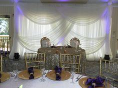 Gorgeous Sweetheart Table Backdrop. August Wedding 2015
