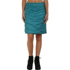 Marmot Banff Insulated Skirt (Arctic Ocean) Women's Skirt ($66) ❤ liked on Polyvore featuring skirts, brown, brown a line skirt, a-line skirts, insulated skirt, blue a line skirt and quilted skirt