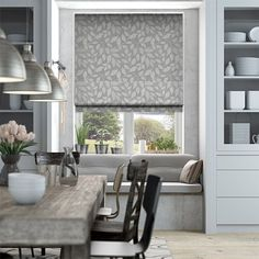 Toscana Pearl Grey Roman Blind from Blinds 2go #VerticalBlindsKitchen