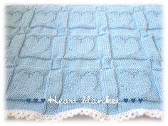 Heart blanket  baby blanket  boy blanket  girl by MariskaPatterns, €4.50