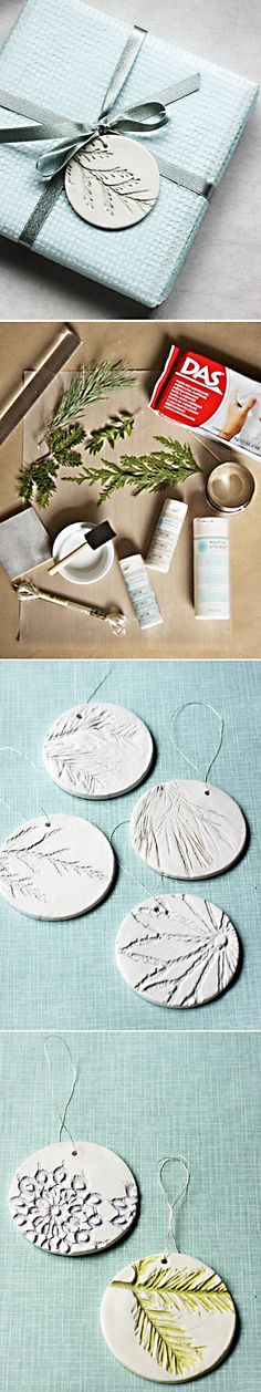 Clay Ornament Gift Toppers