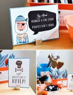 Rad Illustrated Swashbuckler Pirate Party {Joint Birthday}